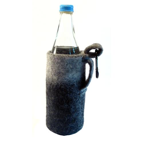 Gefilzte Flaschen - Gürteltasche - Flaschentasche 2 aus Filz